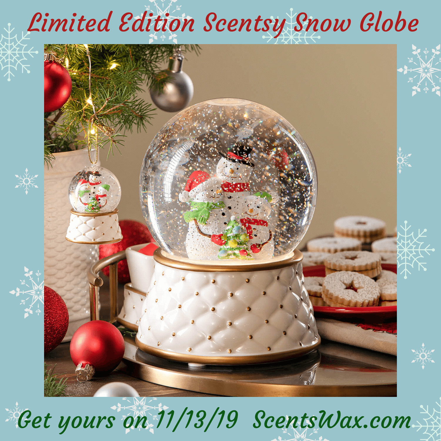 Scentsy Snow Globe Warmer 2019 Holiday Collection