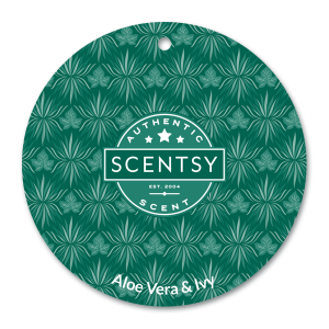 Aloe Vera & Ivey Scentsy Car Freshener Circle