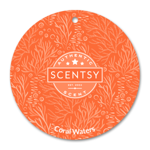 Scentsy Coral Waters Car Freshener Circle