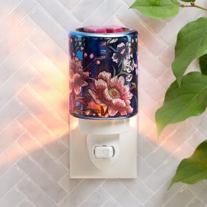 Scentsy Navy Flowers Plug In Warmer