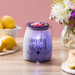 Scentsy Simply Blessed Purple Charity Warmer