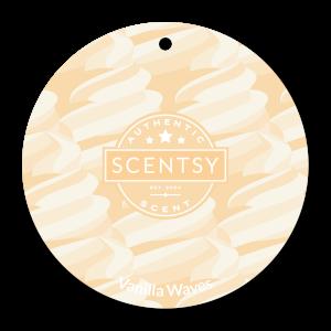 Vanilla Waves Scentsy Car Freshener Circle
