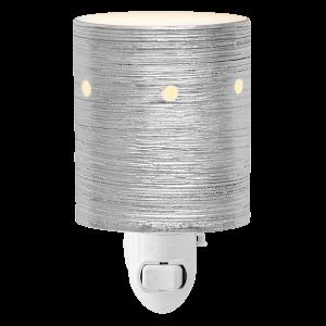 Etched Core Silver Mini Scentsy warmer plugin