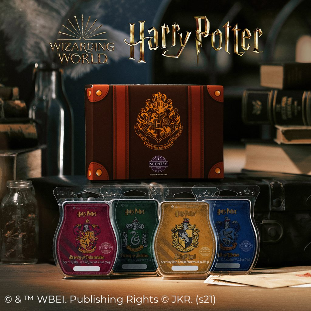 Scentsy Hogwarts House Wax Melt collection