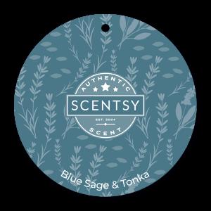 Scentsy Blue Sage and Tonka Car Air Freshener