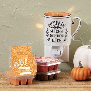 Scentsy Everything Nice Pumpkin Mug Burner